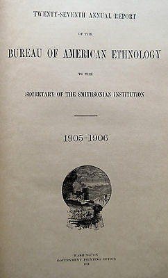 1905-06 BUREAU of AMERICAN ETHNOLOGY REPORT on OMAHA TRIBE of INDIANS - AS IS