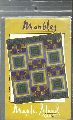 MARBLES QUILTING PATTERN BY MARBLE ISLAND QUILTS MIQ #131 NEW! DEBBIE BOWLES '98 ()