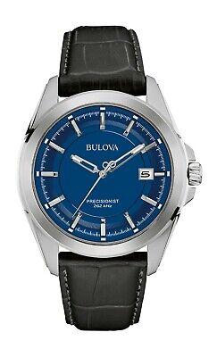 Bulova Men's UHF Precisionist Quartz Blue Dial Calendar Watch 43mm 96B257