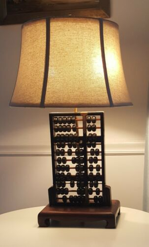 Vintage Abacus Table Lamp (1940s)
