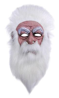 Maske Zauberer Magier alter Mann Gnom weiß Zubehör für Zaubererkostüm (Gnome Maske)