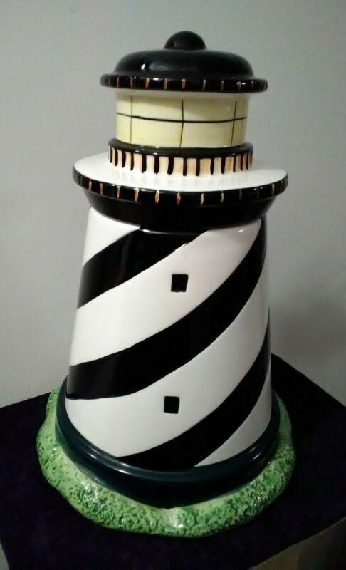 Lighthouse Cookie Jar - Coastal Breeze  1998 - Warren Kimble by Sakura