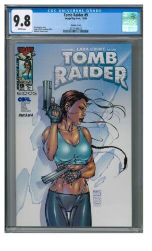 Tomb Raider #9 (2000) Michael Turner Variant Cover CGC 9.8 AA536