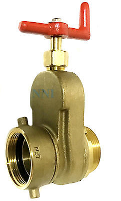 2-12 Hydrant Gate Valve Female Swivel Nst X Male Nst Rated 175 Psi Water