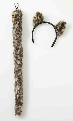 WILD THINGS COUGAR KIT PLUSH EARS & TAIL ADULT HALLOWEEN COSTUME ACCESSORY - Halloween Cougar Ears