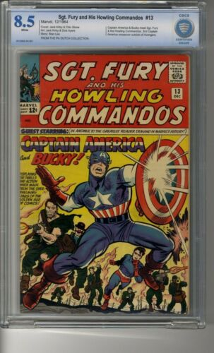 Sgt Fury and His Howling Commandos # 13 - CBCS 8.5 White Pages - Captain America