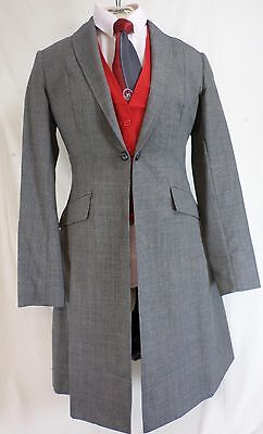 b5e7e6c4fde Reed Hill Ladies Saddleseat Day Coat Black Plaid Poly   Wool Blend size 12  - USA