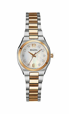 Bulova Women's Quartz Diamond Gallery Rose Gold Tone 26mm Watch 98P143