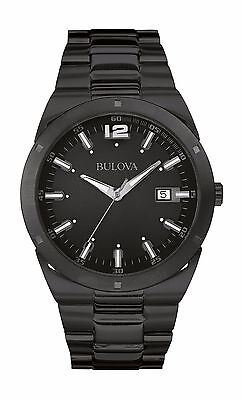 Bulova Men's 98B234 Classic Collection Quartz Black Stainless Steel Watch
