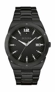 Bulova-Men-039-s-98B234-Classic-Collection-Quartz-Black-Stainless-Steel-Watch