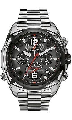 Bulova Precisionist Men's 98B227 Quartz Chronograph Gray Dial Watch