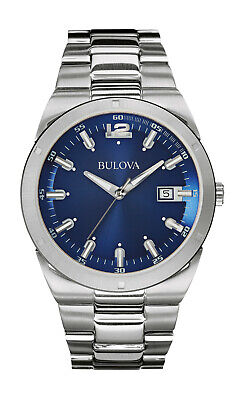 Bulova Men's 96B220 Classic Quartz Blue Dial Silver-Tone Bracelet 43mm Watch