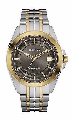 Bulova Precisionist Men's 98B273 UHF Quartz Two-Tone Bracelet 43mm Watch