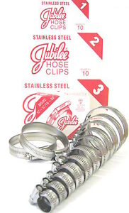 JUBILEE STAINLESS STEEL HOSE CLIPS GENUINE JUBILEE CLIPS HOSE CLAMP