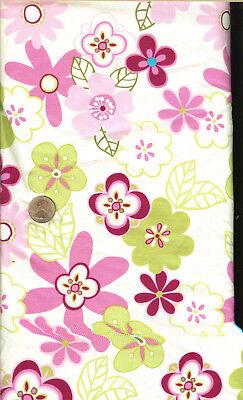 Oop  Pink Burgundy Green White Floral   Brother Sister Design   Rel  2009   Bty