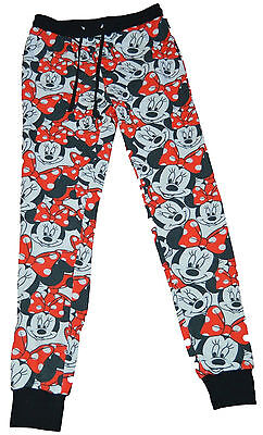 Junior Faces - NWT! 100% Authentic Disney Junior Girls Faces of Minnie Mouse Printed Sweatpants
