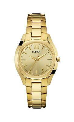 Bulova Women's 97L150 Classic Quartz Gold-Tone Bracelet 32mm Watch