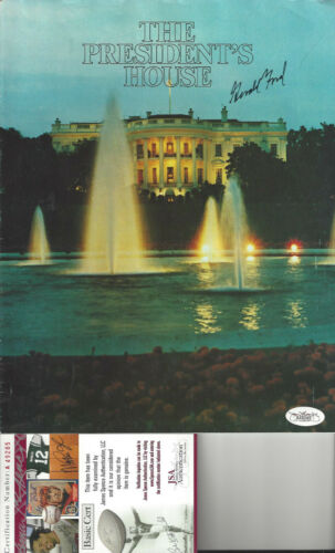 President Gerald Ford  autographed The Presidents House Pamphlet  JSA Certified