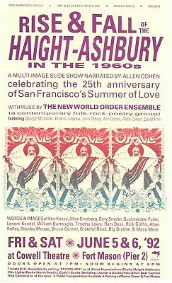 Rise & Fall of the Haight Ashbury and the San Francisco Oracle rare poster