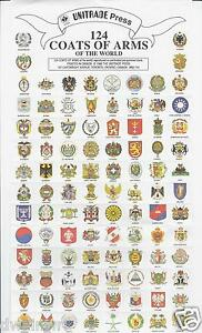 124-Coats-of-Arms-of-the-World-Gummed-1-79-NEW-Cinderella-stamps