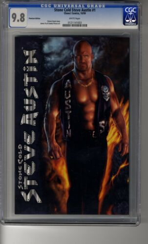 Stone Cold Steve Austin (1999) # 1 Premium Photo Cover - CGC 9.8 White Pages