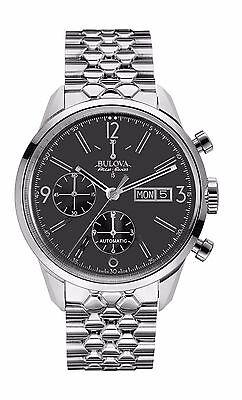 Bulova Accutron Men's 63C119 Accu Swiss Murren Chronograph Black Dial Watch