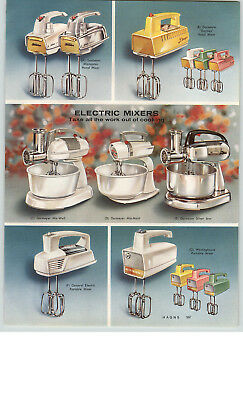 1959 PAPER AD 2 PG Dormeyer Kitchen Aid Electric Food Mixer 3-C K4-B K5-A