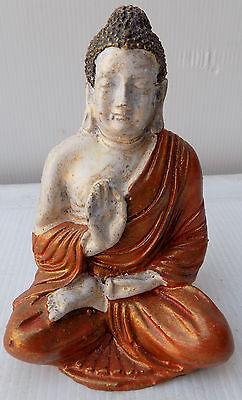 Small Buddha Orange White cm11x7 Resin Indonesian Shiva Divinity Ganesh