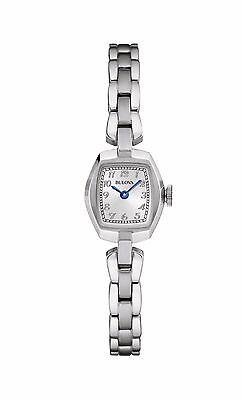 Bulova Women's 96L221 Classic Quartz Square Case Stainless Steel Watch