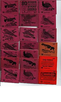 complete serie 30p STITCHED BOOKLET DQ56 - DQ74 = 20 BOOKLETS birds &others