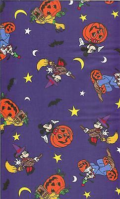 OOP! DISNEYS MICKEY HALLOWEEN COTTON FABRIC - FQ - - Disney Halloween Fabric