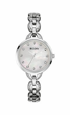 Bulova Women's 96L203 Mother of Pearl Dial Silver Tone Stainless Steel Watch