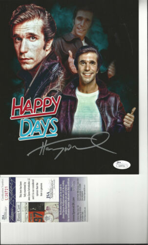 The Fonz Henry Winkler autographed 8x10 great  collage photo JSA Certified