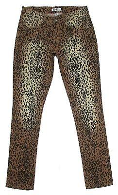 Klip Leopard Print Skinny Jeans Size 9 Low Rise Stretch Junior Womens Denim