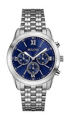 Kyпить Bulova Men's 96A174 Chronograph Blue Dial Stainless Steel Watch на еВаy.соm