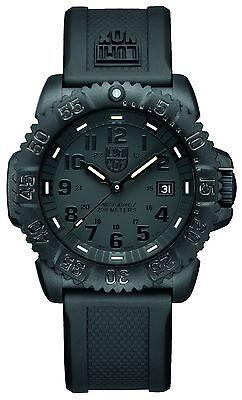 Black Rubber Watch - Luminox Men's 3051.BO Navy Seal Colormark Quartz Black Rubber Strap 44mm Watch