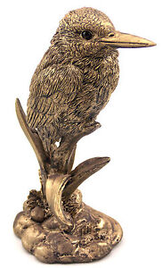 Kookaburra Bronze Bird Statue Figurine Ornament Sculpture Home Garden Gift 15 cm