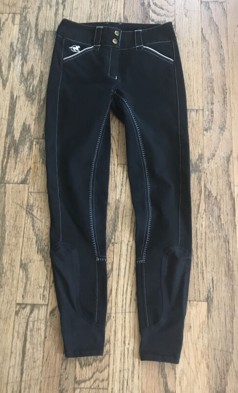 Piper by SmartPak Women's Black Equestrian Horse Riding Breeches Pants Size 24L