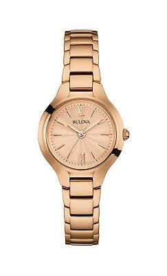 Bulova Classic Women's Quartz Rose Gold Tone Dial 28mm Watch 97L151