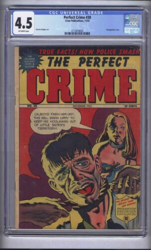 PERFECT CRIME 30 CGC 4.5!       CLASSIC STRANGULATION COVER -  SCARCE!