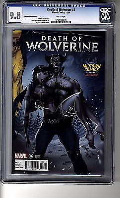 Death of Wolverine (2014) # 2 Midtown Comics Edition - CGC 9.8 White Pages