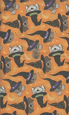 CUTE!! HALLOWEEN DOG FACES/ WITCHES HATS GLITTER - BTHY - 18