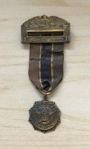 1937 Dept of Florida American Legion Annual Convention Lakeland Medal Ribbon