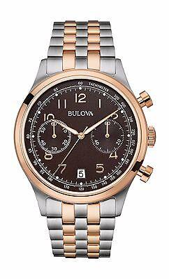 Bulova Men's 98B248 Chronograph Two Tone Quartz Stainless Steel 43mm Watch