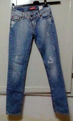 pantalone jeans donna woman femme PITSTOP taglia 27/41 denim passeggiata - Pit Stop Jeans
