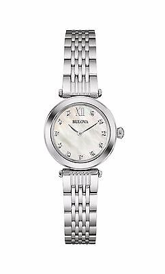 Bulova Women's 96P167 Diamond Markers Quartz Mother of Pearl Bracelet Watch
