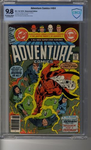 Adventure Comics # 464 Newstand - CBCS 9.8 OW/White Pages- Flash and Deadman App