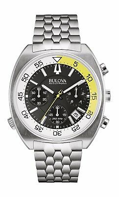 Bulova Accutron II Snorkel Men's Quartz Chronograph Black Dial 44mm Watch 96B237