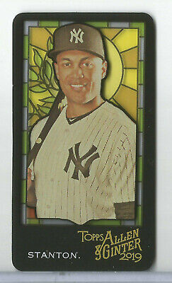 2019 Topps Allen & Ginter Giancarlo Stanton Stained Glass Mini #125 YANKEES (Giancarlo Glasses)