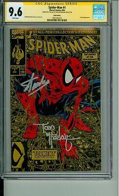 Spider-Man 1 CGC 9.6 SS Gold Signature Lee & McFarlane 1990 CBCS @1ERComics